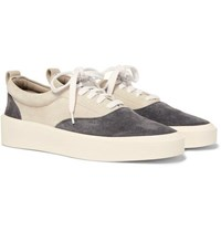 Fear Of God 101 Leather Trimmed Suede Sneakers Gray