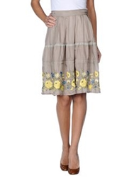 Zucca Knee Length Skirts Grey