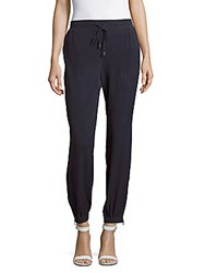 Saks Fifth Avenue Silk Jogger Pants Midnight