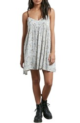 Volcom 'S Thx It's A New Dress Babydoll Dress White