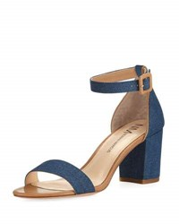Neiman Marcus Shaela Denim City Sandal Blue