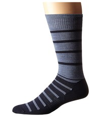 Smartwool Divided Duo Crew Deep Navy Heather Men's Crew Cut Socks Shoes