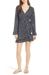 Dl1961 Ainsley Wrap Dress Midnight Polka Dot