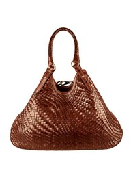 Cole Haan Genevieve Leather Triangle Shoulder Bag Sequonia