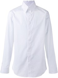 Gucci High Collar Evening Shirt White