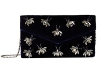 San Diego Hat Company Bsb3547 Velvet Clutch With Multiple Bug Details With Hidden Chain Detail Navy Clutch Handbags