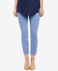 Motherhood Maternity Cropped Pants Dutch Blue