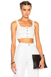 Alexander Wang T By Bustier Top In White