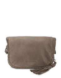 Liebeskind Fringed Leather Crossbody Bag Brown