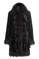 Anna Sui Faux Fur Coat Black