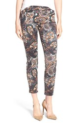 7 For All Mankindr Women's Mankind Print Crop Jeans Underground Paisley