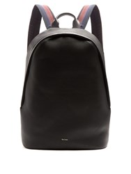 Paul Smith City Webbing Leather Backpack Black