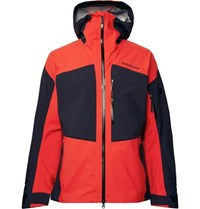 Peak Performance Gravity Gore Tex Hooded Ski Jacket Tomato Red