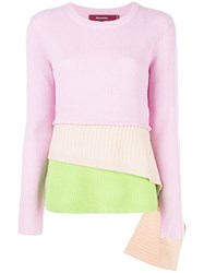 Sies Marjan Layered Knitted Sweater Pink