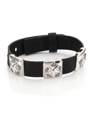 King Baby Studio Square Concho Star Bracelet Black