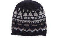 Grevi Men's Fair Isle Wool Blend Cap Navy Grey