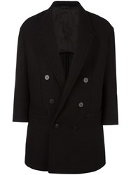Neil Barrett Oversize Double Breasted Coat Black
