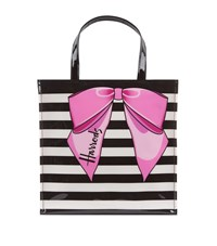 Harrods Small Striped Bow Bag Unisex