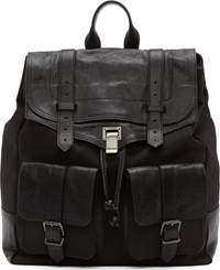 Proenza Schouler Black Canvas And Leather Ps1 Extra Large Backpack