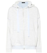 Atm Anthony Thomas Melillo Cotton Blend Hoodie Blue