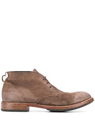 Moma Low Lace Up Desert Boots Brown