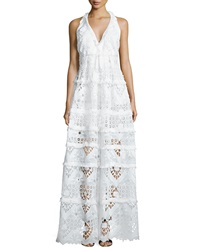 Alexis Nubia Crochet Halter Maxi Dress White
