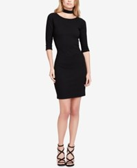 Jessica Simpson Juniors' Tam Choker Bodycon Dress Black