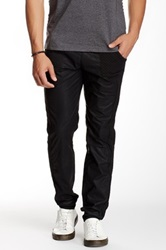 Smash Quilted Faux Leather Jogger Black