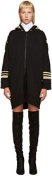 Neil Barrett Black Oversized Military Hoodie