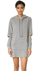 Lna Hoodie Sweatshirt Dress Heather Grey
