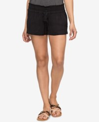 Roxy Juniors' Oceanside Textured Soft Shorts Anthracite