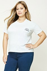 Forever 21 Plus Size Road Tripping Tee Grey Black