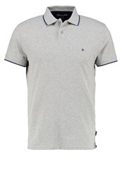Wrangler Regular Fit Polo Shirt Mid Grey Melange