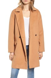 Leith Oversize Double Breasted Coat Tan