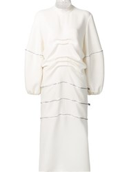 J.W.Anderson Oversized Longsleeves Mid Dress White