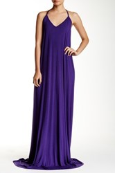 American Twist Crisscross Back Maxi Dress Purple