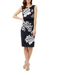 Phase Eight Moira Sequin Flower Dress Navy