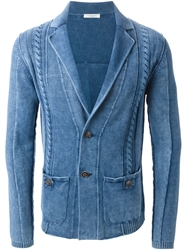 Paolo Pecora Notched Lapels Cable Knit Jacket