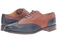 Gravati Calf Toe 5 Eyelet Wingtip Blue Women's Shoes