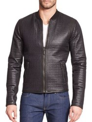 Dolce And Gabbana Quilted Nylon Moto Jacket Black