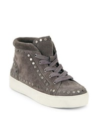 Swam Sierre Studded Suede High Top Sneakers Dark Grey