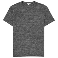 Reiss Perri V Neck T Shirt Dark Grey