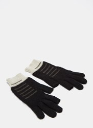 Rick Owens Faded Mohair Knit Gloves Black