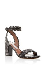 Tabitha Simmons Leticia Perforated Sandal Black