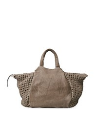 Liebeskind Noda Leather Double Top Handles Bag Tosa Inu Brown