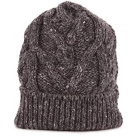 Thom Browne Aran Cable Knit Hat Med Grey