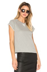 Alexander Wang French Terry Raglan Sweatshirt Gray