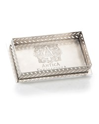 Antica Farmacista Decorative Tray For Bubble Bath Or Bath Salts In Silver Finish
