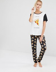 Minkpink Pizza Love Pj Set Multicoloured