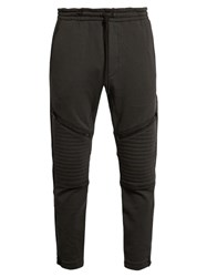 Y 3 Textured Fleece Tack Pants Black